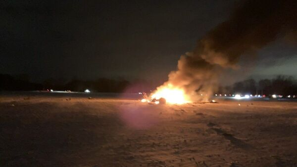 Military helicopter crashes in Mendon, New York on January 20, 2020 - Sputnik International