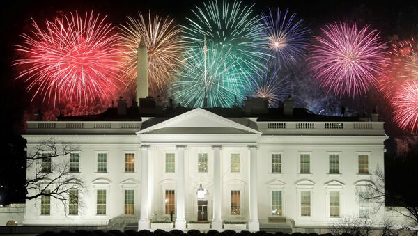 Fireworks are seen above the White House after the inauguration of Joe Biden as the 46th President of the United States in Washington, U.S., January 20, 2021. - Sputnik International
