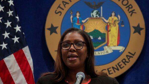 New York State Attorney General Letitia James speaks during a news conference regarding a lawsuit to dissolve the National Rifle Association, In New York, U.S., August 6, 2020. - Sputnik International
