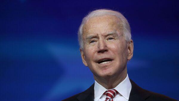 U.S. President-elect Joe Biden announces his nominee for secretary of education, Miguel Cardona in Wilmington, Delaware, U.S., December 23, 2020.  - Sputnik International