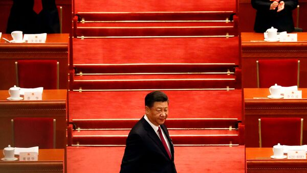 Chinese President Xi Jinping arrives for the opening session of the National People's Congress (NPC) at the Great Hall of the People in Beijing, China March 5, 2018. - Sputnik International