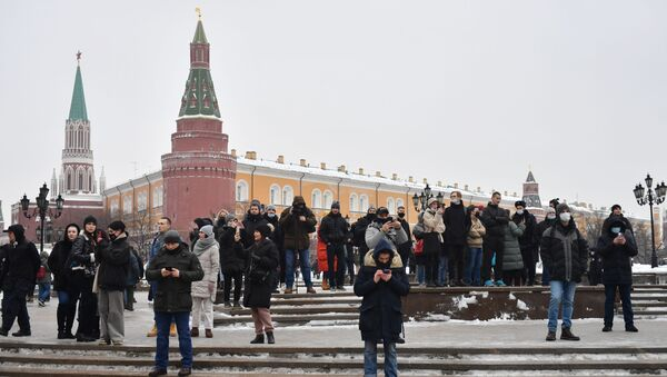 Navalny's supporters in Moscow - Sputnik International