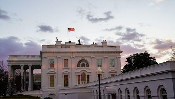 The White House is seen at sunrise during U.S. President Joe Biden's first week in office in Washington, U.S., January 23, 2021. - Sputnik International