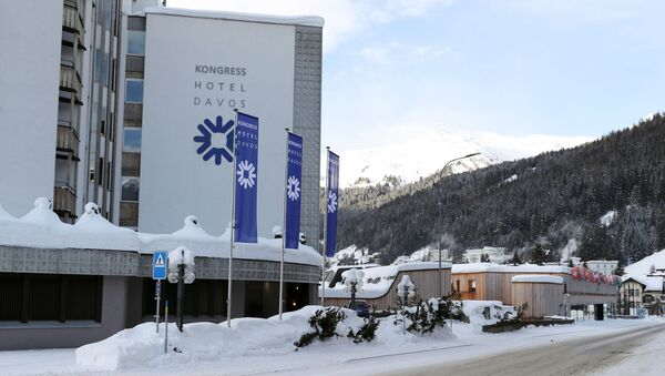 A view shows the Kongress Hotel Davos and the congress centre beside Promenade street as the coronavirus disease (COVID-19) continues in Davos, Switzerland January 22, 2021 - Sputnik International