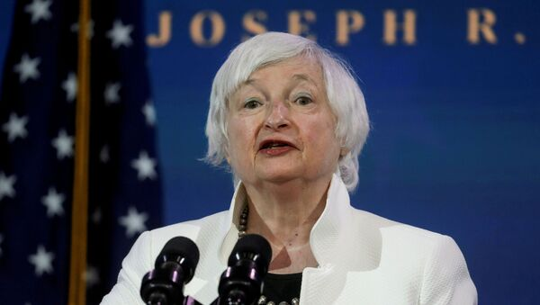 Janet Yellen, U.S. President-elect Joe Biden's nominee to be treasury secretary, speaks as Biden announces nominees and appointees to serve on his economic policy team at his transition headquarters in Wilmington, Delaware, U.S., December 1, 2020.  - Sputnik International