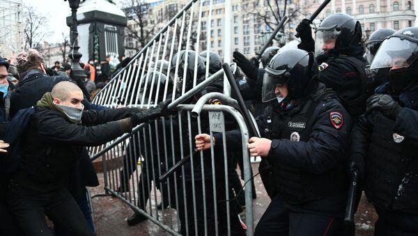 Unauthorised rallies in support of Alexei Navalny  Moscow 23 January - Sputnik International