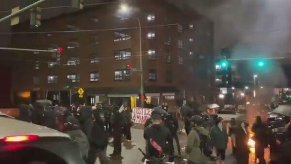 Antifa protests in Tacoma, Washington state - Sputnik International