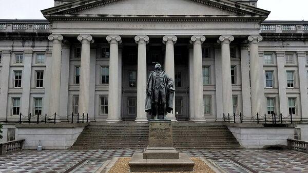 U.S. Treasury Building and Albert Gallatin Statue - Sputnik International
