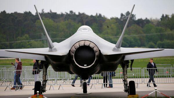 A Lockheed Martin F-35 aircraft is seen at the ILA Air Show in Berlin, Germany, April 25, 2018. - Sputnik International