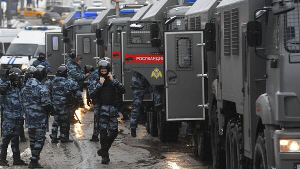 Riot police prepare for an unauthorised rally of Navalny supporters in Moscow, 31 January 2021 - Sputnik International