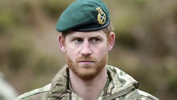 Britain's Prince Harry, the Duke of Sussex looks on during a visit to 42 Commando Royal Marines at their base in Bickleigh, in Devon,  England, Wednesday, Feb. 20, 2019 - Sputnik International