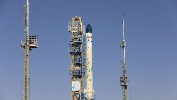 This picture released by the official website of the Iranian Defense Ministry on Monday, Feb. 1, 2021, shows Iran's newest satellite-carrier rocket, called Zuljanah, before being launched at an undisclosed location, Iran. Iranian state TV on Monday aired the launch of the country's newest satellite-carrying rocket, called Zuljanah, which it said was able to reach a height of 500 km (310 miles) and is capable of carrying a 200-kilogram (440-pound) satellite. It did not launch a satellite into orbit. (Iranian Defense Ministry via AP) - Sputnik International