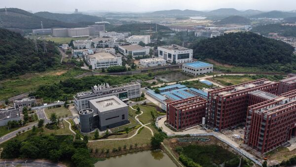 This aerial view shows the P4 laboratory (centre L) on the campus of the Wuhan Institute of Virology in Wuhan in China's central Hubei province on May 27, 2020. - Sputnik International