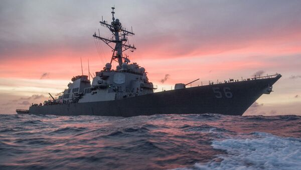 In this Jan. 22, 2017, photo provided by U.S. Navy, the USS John S. McCain conducts a patrol in the South China Sea while supporting security efforts in the region. - Sputnik International