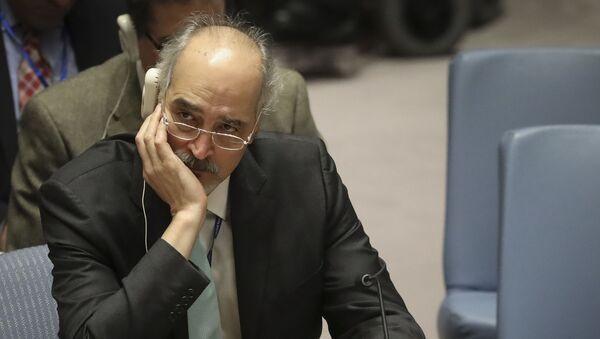 Syrian United Nations Ambassador Bashar al-Jaafari listens during a meeting on Syria at the United Nations Security Council, Monday Nov. 19, 2018 at U.N. headquarters. - Sputnik International