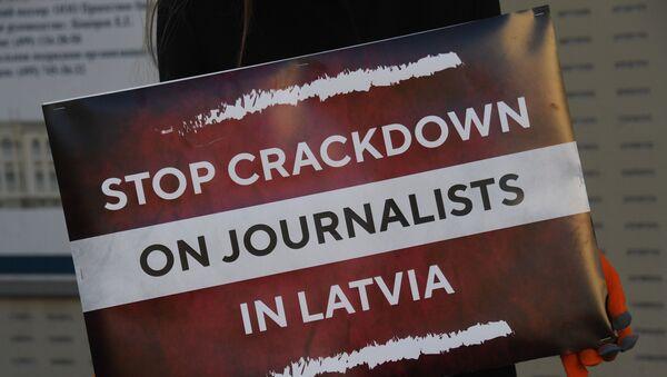 Russia Latvia Reporters Crackdown Protest - Sputnik International