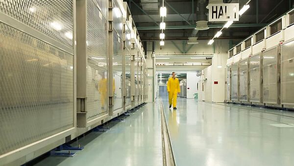 A handout picture released by Iran's Atomic Energy Organization on November 6, 2019, shows the interior of the Fordo (Fordow) Uranium Conversion Facility in Qom, in the north of the country. - Sputnik International
