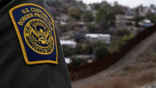 A US. border patrol agent looks out over Tijuana, Mexico from the US-Mexico border wall in San Diego, California, 2 February 2021. - Sputnik International