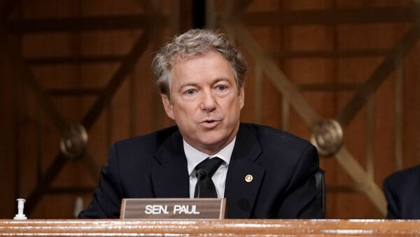 Sen. Rand Paul (R-KY) asks questions during a Senate Homeland Security and Governmental Affairs Committee hearing to discuss election security and the 2020 election process on December 16, 2020 in Washington, DC. - Sputnik International