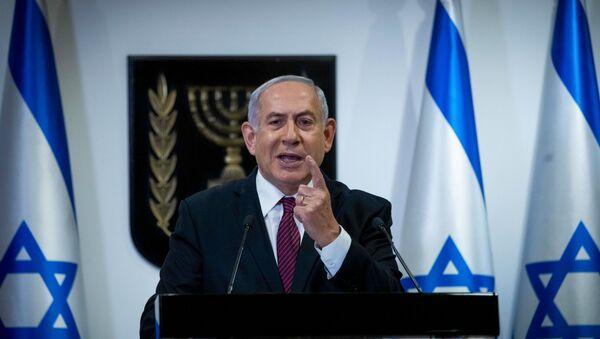 Israeli Prime Minister Benjamin Netanyahu delivers a speech at the Knesset (Israeli Parliament) in Jerusalem on December 22, 2020.  - Sputnik International