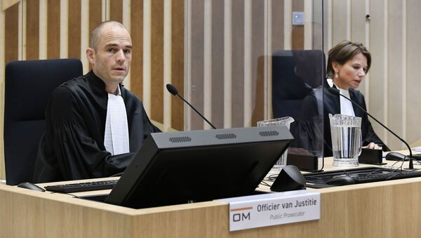 Public prosecutor Ward Ferdinandusse is seen in court as the trial resumed for three Russians and a Ukrainian charged with crimes including murder for their alleged roles in the shooting down of Malaysia Airlines Flight MH17 over eastern Ukraine in 2014, at the high security court building at Schiphol Airport, near Amsterdam, Monday, August 31, 2020. - Sputnik International