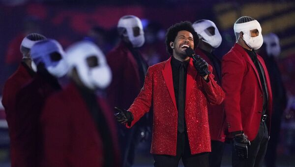 The Weeknd performs during the halftime show of the NFL Super Bowl 55 football game between the Kansas City Chiefs and Tampa Bay Buccaneers, Sunday, Feb. 7, 2021, in Tampa, Fla - Sputnik International