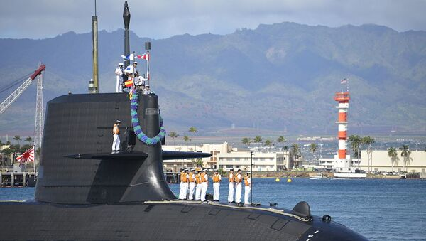 Japan Maritime Self Defense Force (JMSDF) submarine Hakuryu (SS-503) arrives at Joint Base Pearl Harbor-Hickam for a scheduled port visit, Feb. 6. While in port, the submarine crew will conduct various training evolutions and have the opportunity to enjoy the sights and culture of Hawaii.  - Sputnik International