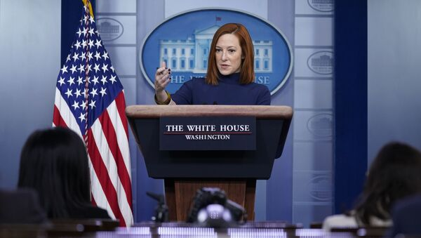 White House press secretary Jen Psaki speaks during a press briefing at the White House, Monday, Feb. 8, 2021, in Washington - Sputnik International
