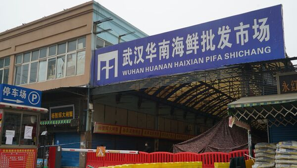 The Wuhan Huanan Wholesale Seafood Market, where a number of people related to the market fell ill with a virus, sits closed in Wuhan, China, Tuesday, Jan. 21, 2020. - Sputnik International
