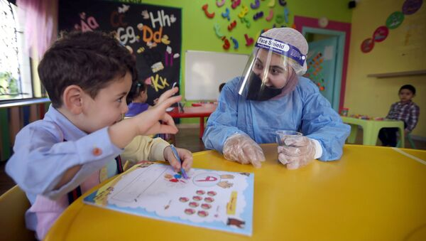 Child at daycare in Jordan - Sputnik International