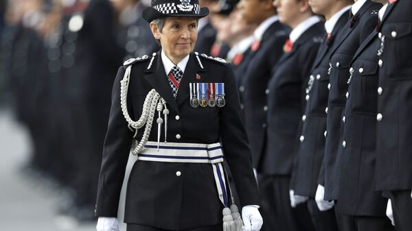 Britain's Metropolitan Police Commissioner Cressida Dick inspects police cadets at the Metropolitan Police Service Passing Out Parade at Hendon, in London, Friday Nov. 3, 2017 - Sputnik International