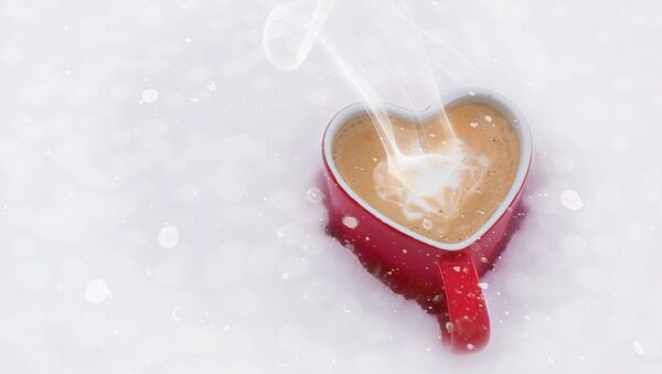 A cup of coffee on St.Valentine's Day - Sputnik International