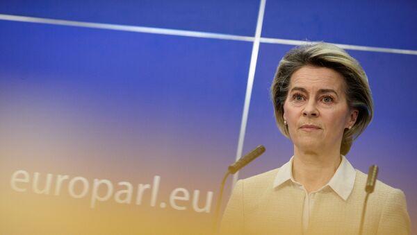European Commission President Ursula von der Leyen attends a news conference in Brussels - Sputnik International