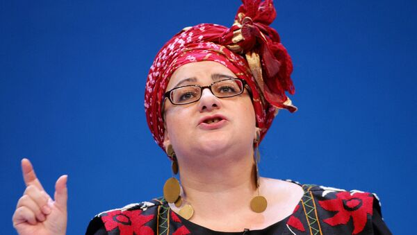 Camila Batmanghelidjh, founder of the 'Kids Company', a charity working with disadvantaged British children, addresses the second day of the Opposition Conservative Party Conference at the Bournemouth International Centre, in Bournemouth, in southern England, 02 October 2006.  - Sputnik International