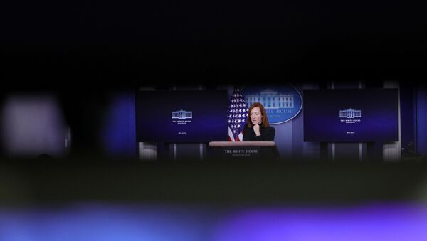 White House Press Secretary Jen Psaki delivers remarks during a press briefing inside the James Brady Briefing Room at the White House in Washington, U.S., February 3, 2021 - Sputnik International