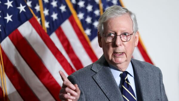 U.S. Senate Minority Leader Mitch McConnell (R-KY) speaks to reporters after the weekly Republican caucus policy luncheon on Capitol Hill in Washington, U.S., January 26, 2021. - Sputnik International