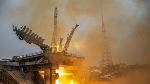 Launch of the Soyuz-2.1a rocket carrier with the Progress MS-16 cargo ship from the Baikonur Cosmodrome - Sputnik International