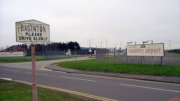 Main gate of Coventry Airport in Baginton, Warwickshire, near Coventry, England (File) - Sputnik International