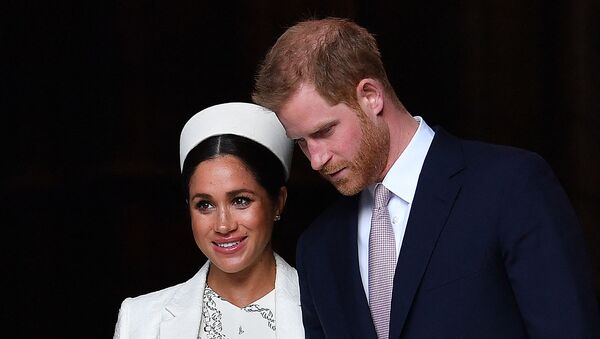 In this file photo taken on March 11, 2019 Britain's Prince Harry, Duke of Sussex (R) and Meghan, Duchess of Sussex leave after attending a Commonwealth Day Service at Westminster Abbey in central London. - Sputnik International