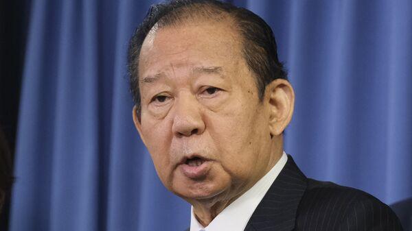 Japan's ruling Liberal Democratic Party (LDP) Secretary General Toshihiro Nikai speaks to the media at the LDP headquarters in Tokyo on September 1, 2020. - Sputnik International