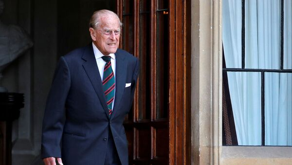 Britain's Prince Philip arrives for the transfer of the Colonel-in-Chief of the Rifles at Windsor Castle in Britain 22 July 2020 - Sputnik International