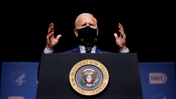 FILE PHOTO: U.S. President Joe Biden visits the National Institutes of Health (NIH) in Bethesda, Maryland - Sputnik International