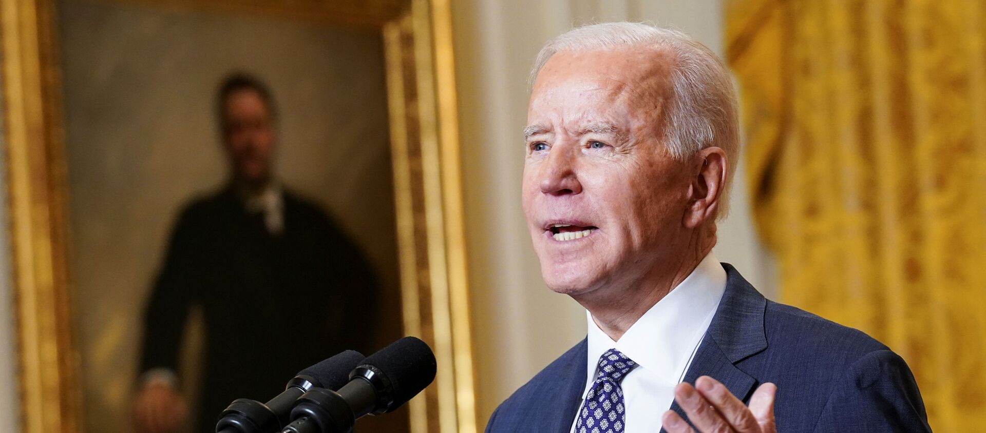 U.S. President Joe Biden delivers remarks as he takes part in a Munich Security Conference virtual event from the East Room at the White House in Washington, U.S., February 19, 2021. - Sputnik International, 1920, 19.02.2021