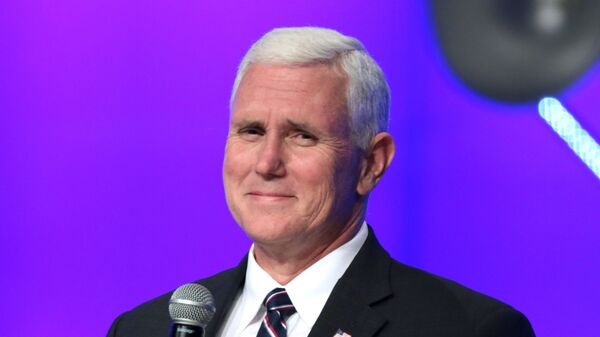 Governor Mike Pence speaking with supporters at a campaign rally and church service at the Living Word Bible Church in Mesa, Arizona.    - Sputnik International