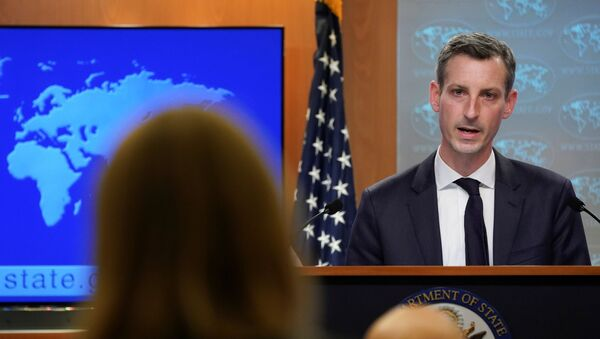 U.S. State Department Spokesman Ned Price speaks during a news briefing at the State Department in Washington - Sputnik International