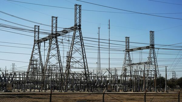 An electrical substation is seen after winter weather caused electricity blackouts in Houston, Texas, U.S. February 20, 2021. - Sputnik International