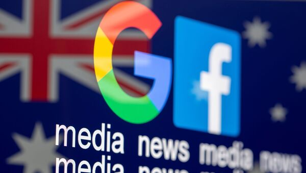 Google and Facebook logos - Sputnik International