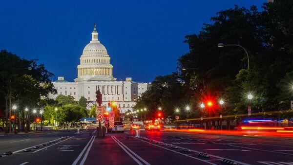 Washington DC at night. View of the Capitol building - Sputnik International