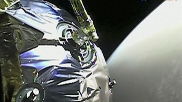 A view as Tianwen-1 probe enters the orbit of Mars in this screen grab obtained from a video on February 12, 2021 - Sputnik International