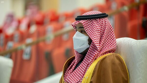 Saudi Crown Prince, Mohammed bin Salman attends the Saudi Cup at King Abdulaziz Racetrack in Riyadh, Saudi Arabia, February 20, 2021. Picture taken February 20, 2021. - Sputnik International